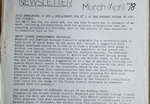 22 Newsletter March April 1978